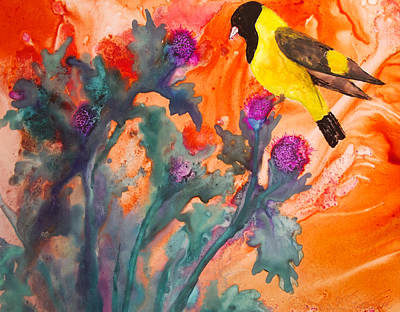 Painting - Blackheaded Siskine by Patricia Beebe