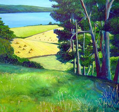 Scotland Painting - Blackisle Bales by Stephanie  Maclean