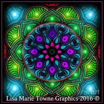 Wall Art - Digital Art - Blacklight 15 by Lisa Marie Towne