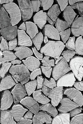 Susann Serfezi Photograph - Black'n White Wood by AugenWerk Susann Serfezi