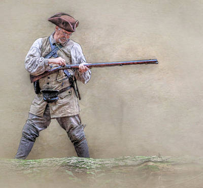 Seven Years War Digital Art - Blackpowder Woodsman Version Two by Randy Steele