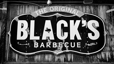 Central Texas Photograph - Blacks Barbecue Sign #3 by Stephen Stookey