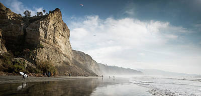 Photograph - Black's Beach Cliffs by William Dunigan