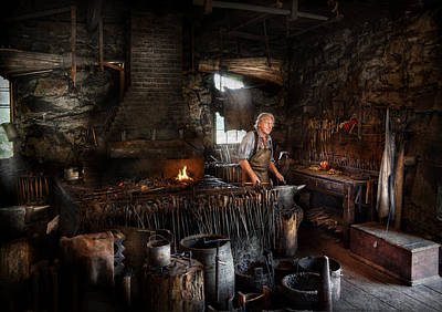Blacksmith - This Is My Trade  Art Print by Mike Savad
