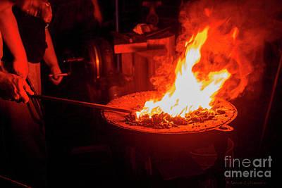 Photograph - Blacksmith Fire by David Arment