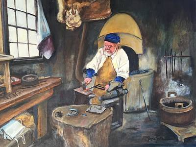 Painting - Blacksmith  by Gloria Smith