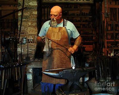 Blacksmith Art Print by Kim Michaels