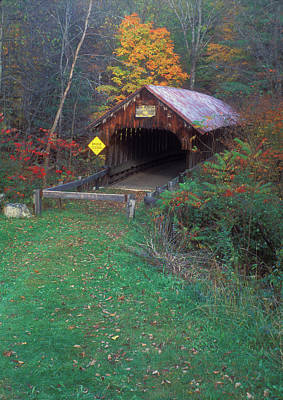 Photograph - Blacksmith Shop Covered Bridge by John Burk