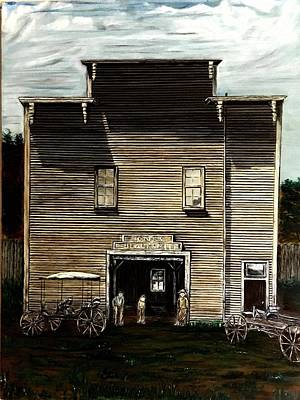 Painting - Blacksmith Shop by Michael Silbaugh