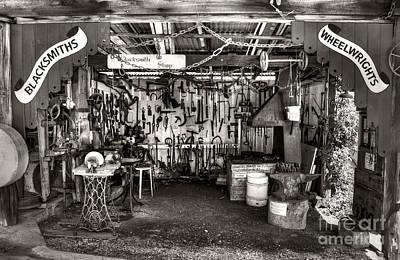Tomatoes Photograph - Blacksmith Shop Monochrome By Kaye Menner by Kaye Menner