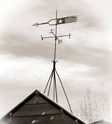 Blacksmith Shop Weathervane Art Print