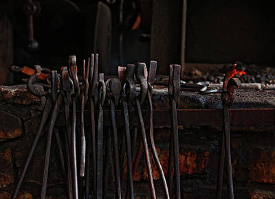 Photograph - Blacksmith Tools by Rowana Ray