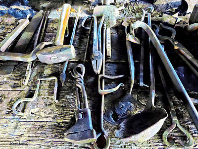 Photograph - Blacksmith Tools by Susan Savad