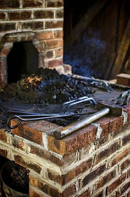 Preston Farm Photograph - Blacksmith Workspace by Heather Applegate