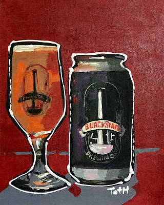 Growler Painting - Blackstack by Laura Toth