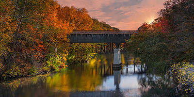 Photograph - Blackstone River Bridge by Robin-Lee Vieira