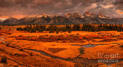 Photograph - Blacktail Ponds Stormy Sunrise by Adam Jewell