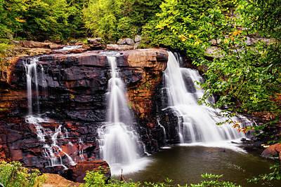 Photograph - Blackwater Falls In Autumn At Blackwater Falls State Park Wv Usa by Vishwanath Bhat
