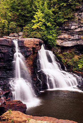 Photograph - Blackwater Falls In Blackwater Falls State Park Wv Usa In Autumn by Vishwanath Bhat