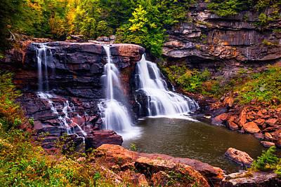 Photograph - Blackwater Falls In Blackwater Falls State Park Wv Usa by Vishwanath Bhat