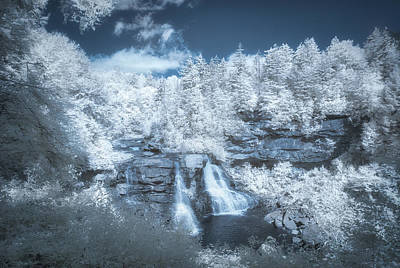 Photograph - Blackwater Falls In Infrared by Guy Whiteley