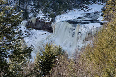 Photograph - Blackwater Falls In Winter by Jack Nevitt