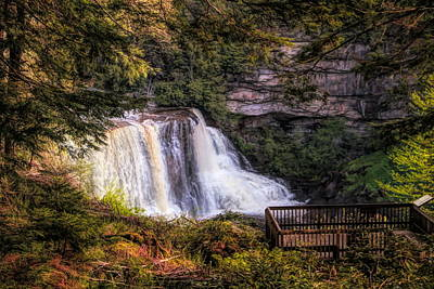 Mixed Media - Blackwater Falls West Virginia by Dan Sproul