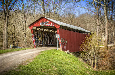 Music Royalty-Free and Rights-Managed Images - Blackwood Covered Bridge by Jack R Perry