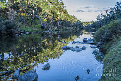 Blackwood River Rocks, Bridgetown, Western Australia Art Print
