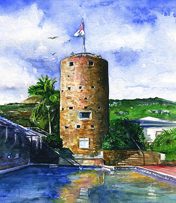Painting - Blacl Beards Tower St. Thomas by John D Benson