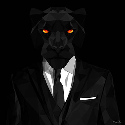 Panther Digital Art - Blacl Panther by Gallini Design