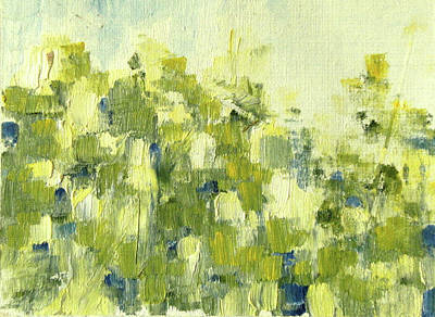 Painting - Bladverk I Motljus   - Sunlit Leafs_0159 Up To 76 X 56 Cm by Marica Ohlsson