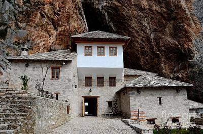 Photograph - Blagaj Sufi Muslim Dervish Stone Monastery Structure Bosnia Herzegovina by Imran Ahmed
