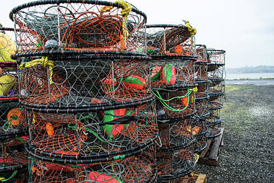 Photograph - Blaine Crab Pots by Tom Cochran