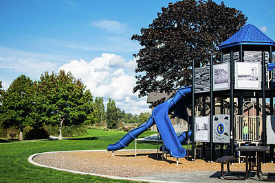 Photograph - Blaine Marine Park Playground by Tom Cochran