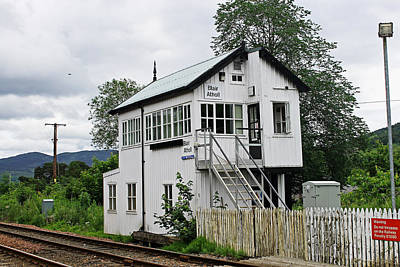 Photograph - Blair Atholl Signal Box  by Tony Murtagh
