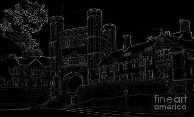 Painting - Blair Hall by DJ Fessenden