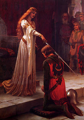 Blair Leighton The Accolade Art Print by Edmund Blair Leighton