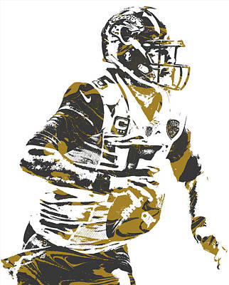 Mixed Media - Blake Bortles Jacksonville Jaguars Pixel Art 10 by Joe Hamilton