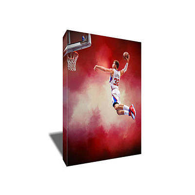 Blake Griffin Painting - Blake Griffin Canvas Art by Artwrench Dotcom