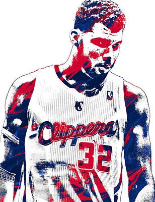 Blake Griffin Los Angeles Clippers Pixel Art 2 Art Print by Joe Hamilton