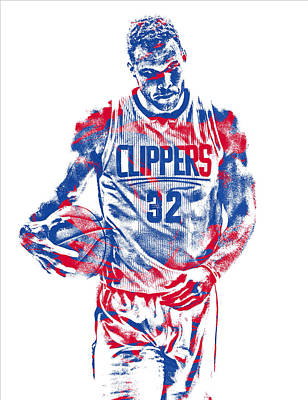 Mixed Media - Blake Griffin Los Angeles Clippers Pixel Art 30 by Joe Hamilton
