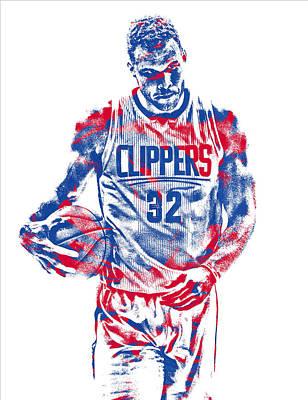 Mixed Media - Blake Griffin Los Angeles Clippers Pixel Art 30 by Joe Hamilton