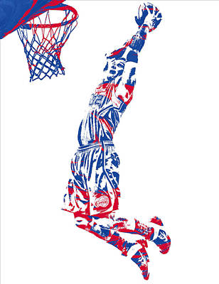 Mixed Media - Blake Griffin Los Angeles Clippers Pixel Art 31 by Joe Hamilton