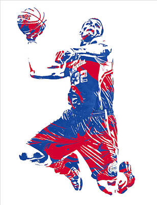 Mixed Media - Blake Griffin Los Angeles Clippers Pixel Art 32 by Joe Hamilton