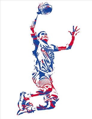 Mixed Media - Blake Griffin Los Angeles Clippers Pixel Art 33 by Joe Hamilton