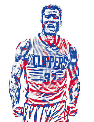 Mixed Media - Blake Griffin Los Angeles Clippers Pixel Art 34 by Joe Hamilton