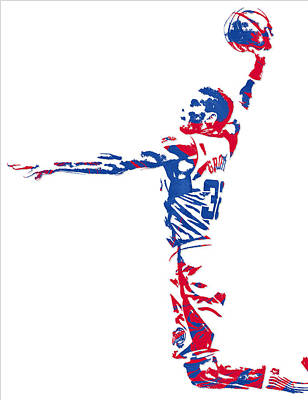 Blake Griffin Los Angeles Clippers Pixel Art 5 Art Print