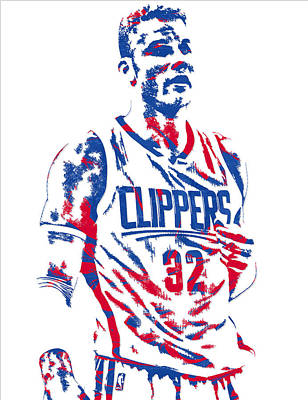Blake Griffin Los Angeles Clippers Pixel Art 6 Art Print