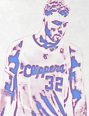 Blake Griffin Los Angeles Clippers Pixel Art Art Print by Joe Hamilton
